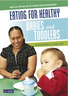 Image of the cover of the booklet 'Eating for healthy babies and toddlers'